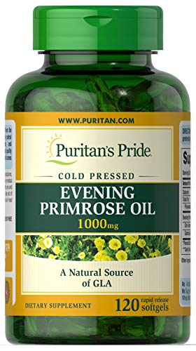 (Puritans Pride Evening Primrose Oil 1000 Mg with Gla, 120 Count)