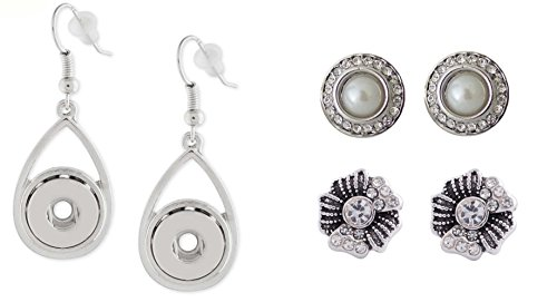 Snap Charm Earrings for Mini Petite Snaps 12mm (1/2