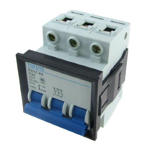 eDealMax Miniature Mini 3P disjoncteur, DZ47-63 C32, AC 400V, 32 Amp by eDealMax
