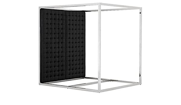 Casa Padrino Marco de la Cama cabecera en Cuero Negro mira 190 x 220 x 220 cm H. - Muebles de diseño: Amazon.es: Hogar