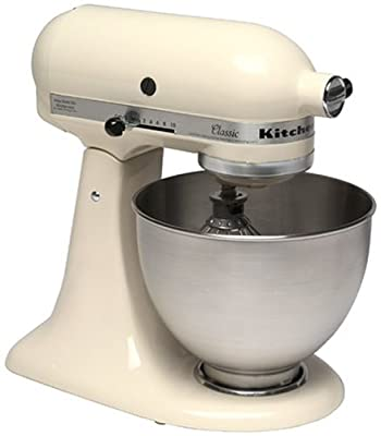 KitchenAid K45SS Classic 250-Watt 4-1/2-Quart Stand Mixer, Almond Cream by KitchenAid