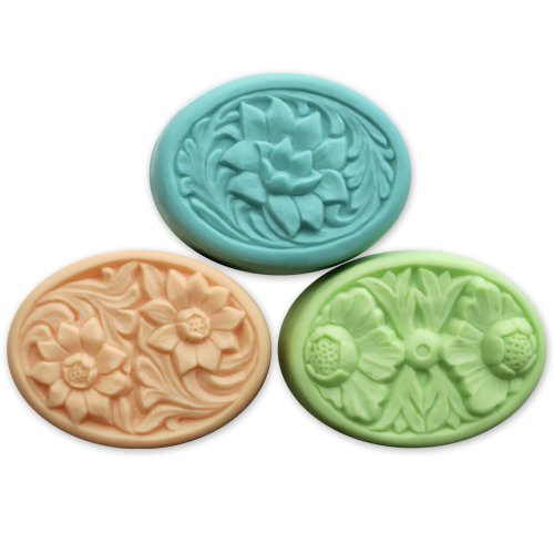- Floral Ovals Soap Mold by Milky Way - Clear PVC
