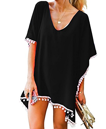 Oryer Womens Chiffon Tassel Beachwear Stylish Swimwear Bikini Swimsuit Cover up