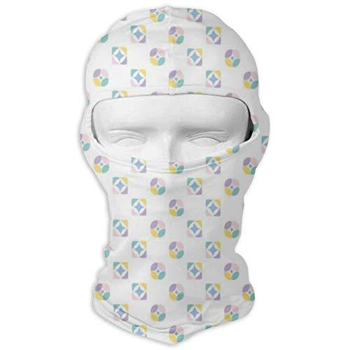 Xuforget Modern Decor Abstract Geometric Icons Mens & Female Balaclavas Full Face Mask Hood White