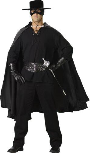 [InCharacter Costumes Bandido Adult Set Costume, Black, Large] (Zorro Hat)
