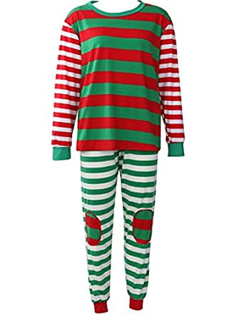 Women's 2 Piece long Sleeve Sleep Shirt with Pants Pajama Set (Label S / US 4 / Men S, Multi)