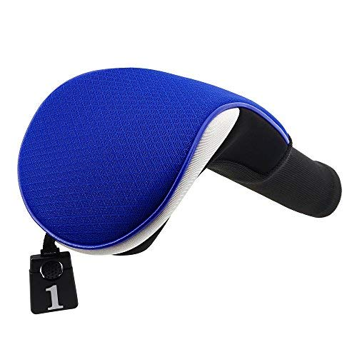 Lightweight Mesh Golf Driver Headcovers Big Teeth Golf Fairway Wood Hybird Head Covers Club Protecter for Taylormade Ping Anser Titleist (Driver Cover Blue)