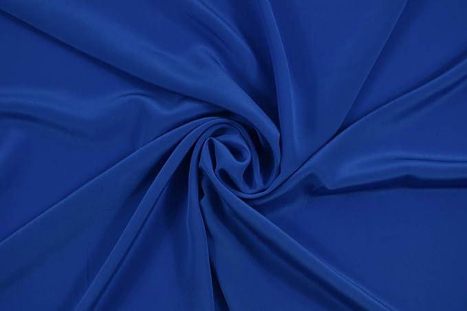 140 cm pura seta Crepe de Chine Notte Blu
