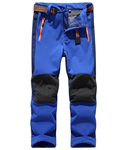 Breathable Outdoor Trousers Kids Walking ZongSen Dark Waterproof Boy Girl Winter Blue Warm Hiking nTqzvXq
