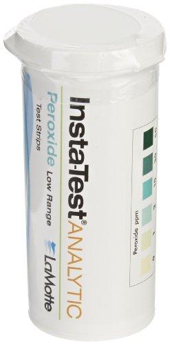 (LaMotte Insta-Test 2984LR Hydrogen Peroxide Single Factor Test Strip, 0-50ppm Range (Vial of 25 Strips))