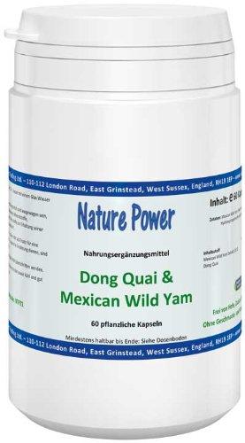 Nature Power Dong Quai & Mexican Wild Yam Kapseln 60 pflanzlichen Kapseln = 30 g