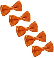 AWAYTR Mens Boys Classic Bowtie - Adjustable Pre Tied Tuxedo Bow Ties for Wedding Party Formal Events, 5 Pcs
