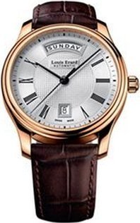 LOUIS ERARD MEN'S HERITAGE 40MM LEATHER BAND AUTOMATIC WATCH 67258PR21.BRC03