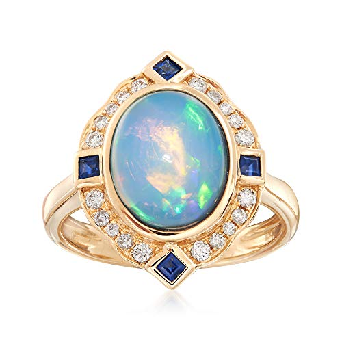 (Ross-Simons Ethiopian Opal and .41 ct. t.w. Multi-Stone Ring in 14kt Gold)