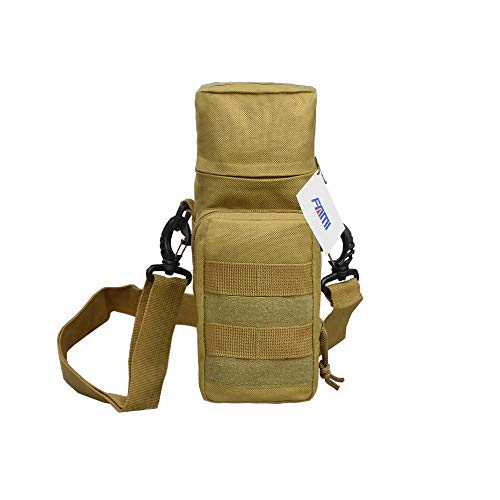 FAMI Tactical Molle Water Bottle Pouch H2O Hydration Carrier Accessory Pouch-Khaki
