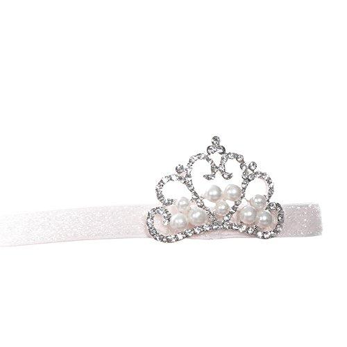 - Lurryly Baby Girl Crown hair band Princess Crystal Pearl Crown Cute Girls Hairband