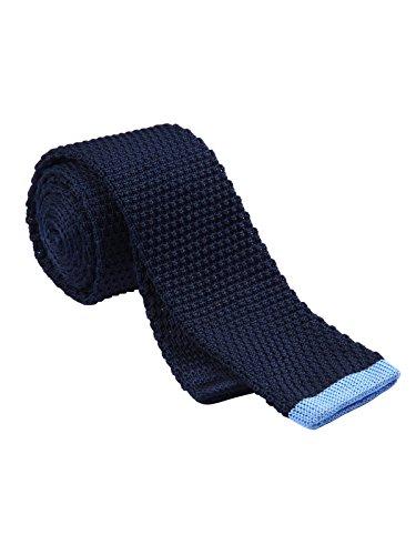 HISDERN Mens Knit Tie Casual Vintage Smart Skinny Necktie