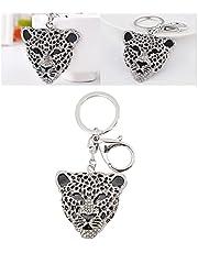 Strass sleutelhanger, draagbare portemonnee sleutelhanger Glanzende zinklegering sleutelhanger voor sleutels Portemonnees Handtassen voor vrouwen voor Kerstmis Valentijnsdag(8 * 6 * 1cm-Zilver)