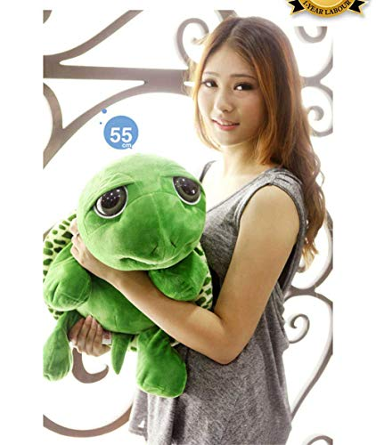 GeniusCells Big Stuffed Animal Turtle Travel Pillow for Sleeping and Hugging Cute & Warm Tortoise Toys