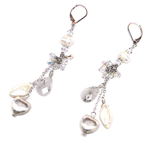 rutilated-quartz-cultured-pearl-sterling-silver-heart-chain-dangle-chandelier-lever-back-earrings