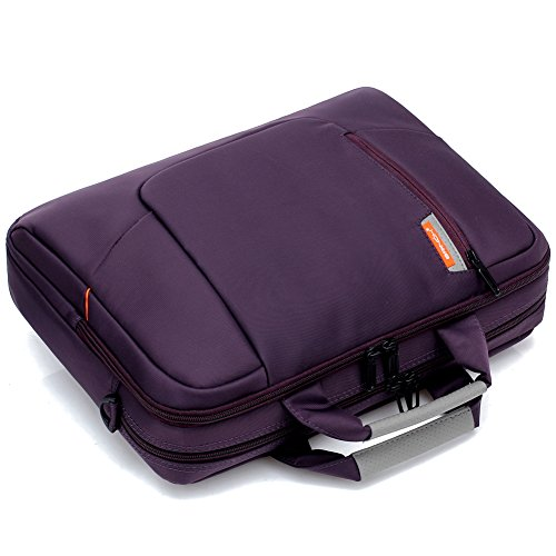 BRINCH Nylon Waterproof Laptop Case with Side Pockets for Macbook Pro Retina 15 inch Mini Asus/DELL/HP/Samsung ,15.6-Inch, Purple by BRINCH (Image #8)'