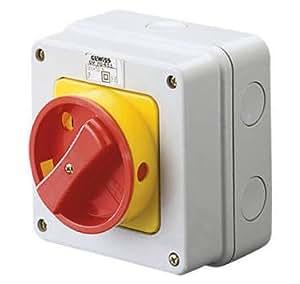 Gewiss GW70431 - Accesorio para tablero de distribución eléctrica (114 mm, 71.5 mm, 114 mm) Rojo, Color blanco, Amarillo