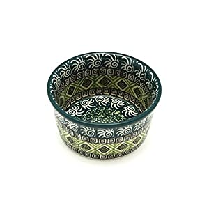 Polish Pottery Ramekin – Aztec Forest
