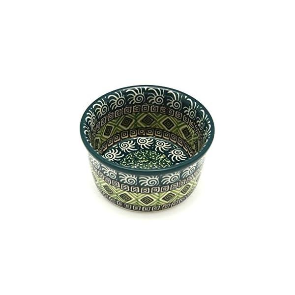 Polish Pottery Ramekin – Aztec Forest