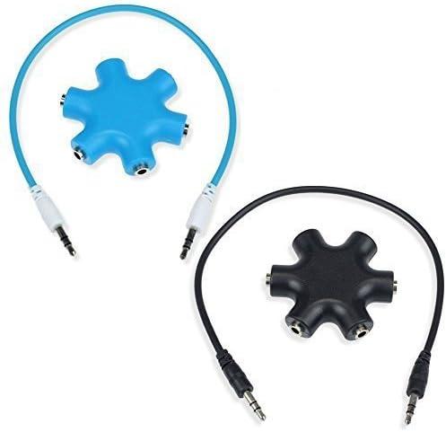 Aussel 2 Satz 3 5mm Kopfhörer Kopfhörer Verlängerungs Audio Splitter Adapter 1 Stecker Auf 2 3 4 5 Female Audio Kabel Gewerbe Industrie Wissenschaft