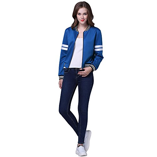 Large Womens Outerwear Solid Street Cool Jacket Patchwork Neck Sexy Outwear Autumn Sport Lace Short Blue Size Striped Coats Overcoat MIRRAY Tops Long O Blouse Girls Sleeve Casual Winter ZPqZdO