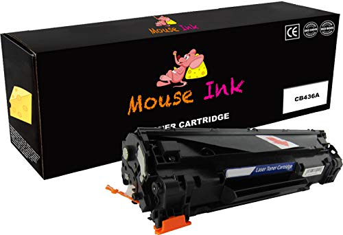 Hewlett Laser Mouse Packard (Mouse Ink Compatible Toner Cartridge Replacement for HP CB436A  ( Black , 1 pk ))