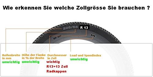TEILE-24.EU Malinowski Jeu de 4/enjoliveurs 13/Enjoliveurs Jeu de 4/enjoliveurs 13/Noir q13g bicolore vert NEUF /& Emballage dorigine Top offre.