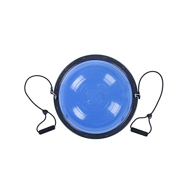 BuoQua Mezza Sfera Cupola Palla 60cm Balance Trainer Equilibrio Azzurro Palla Balance Trainer con Cinghie Laterali E… 3 spesavip