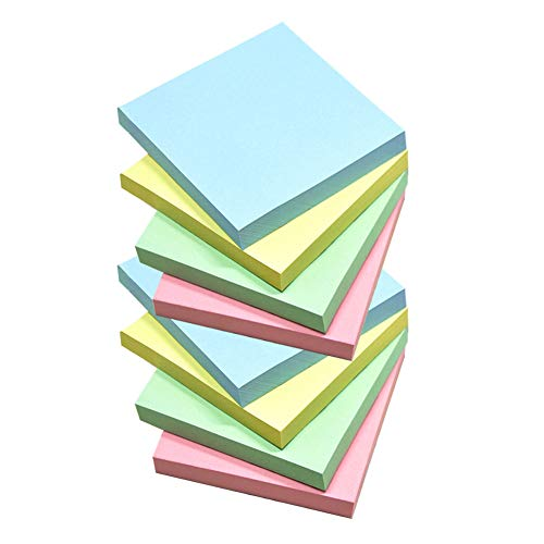 HONESTY 4 Candy Colors Self-Stick Notes Sticky Notes 10 Pads/Pack 100 Sheets/Pad 3 inch X 3 inch Easy Post