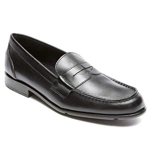 Rockport mens Classic Penny Loafer, Black/Black, 11 D(M) US