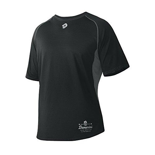 (DeMarini Men's Game Day Short Sleeve Shirt, Black, Medium )