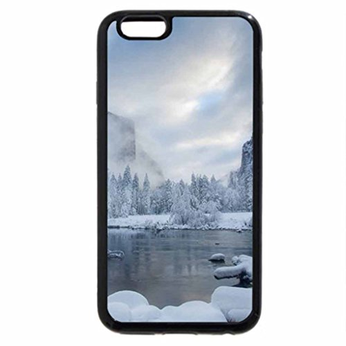 iPhone 6S Case, iPhone 6 Case (Black & White) - Earkt Misty Morning
