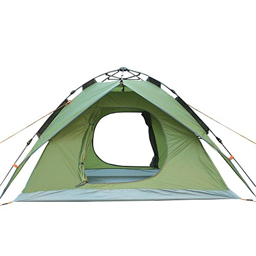 4 Person Automatic Popup Tent Instant Family Tent 4 Season Backpacking Tent for Outdoor Sports (green)