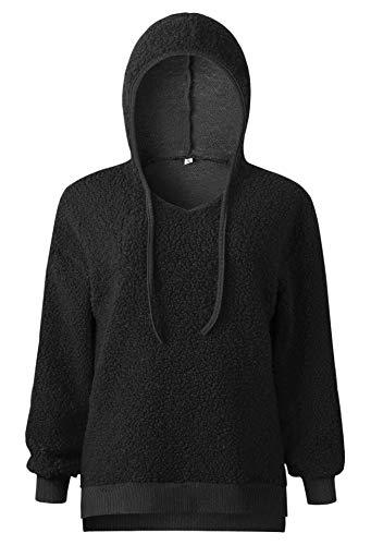 Tops Black Shirt Femme Sweat Streetwear Sports Blouson Hiver Manches HnrnUI8