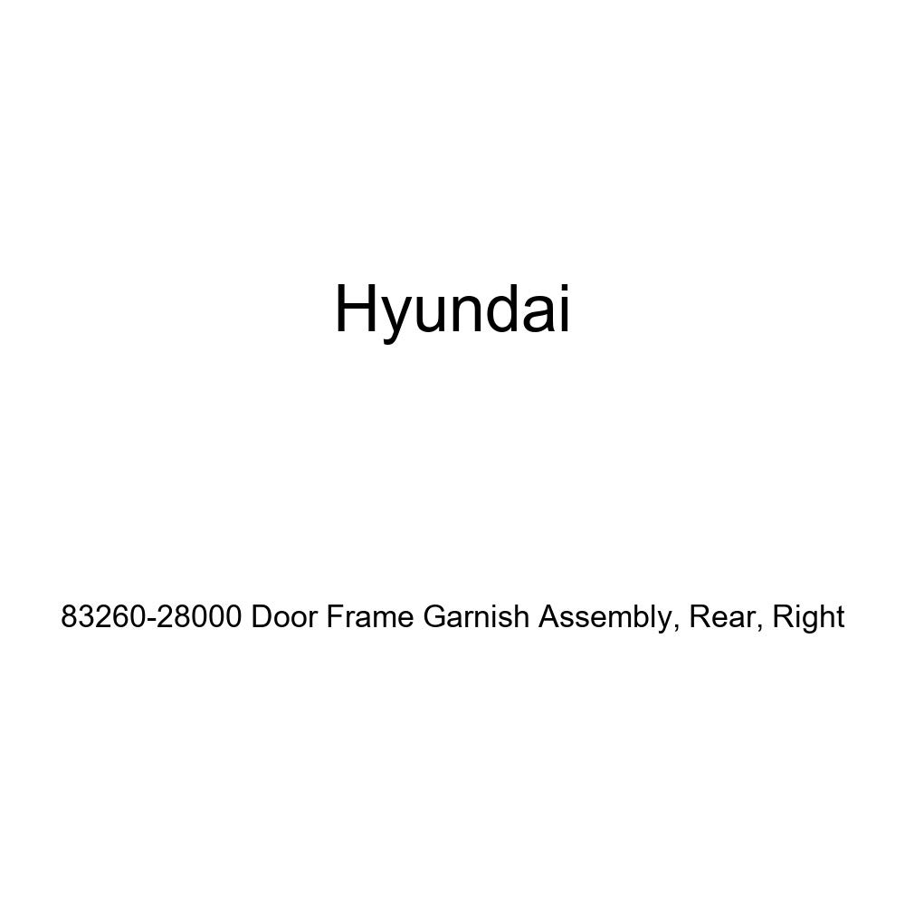 Genuine Hyundai 83260-28000 Door Frame Garnish Assembly Right Rear