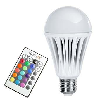 Technaxx 4215 10W E27 A Variable - Lámpara LED (Variable, Color blanco, A, 50/60, 100-240, 7 cm)