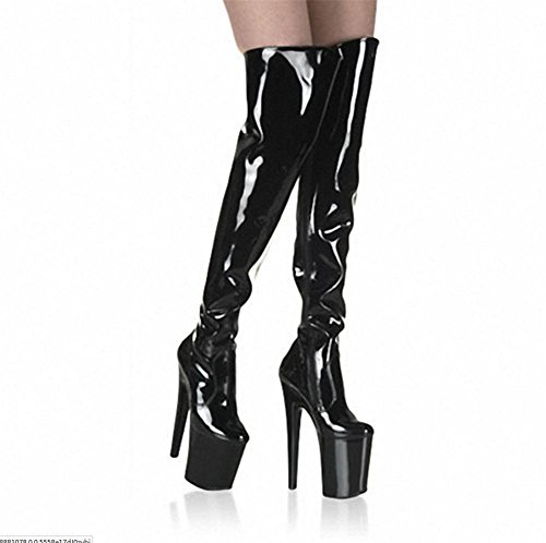 Sexy Rouge Imperméable Femmes Delight Stretch Heel Nouvelle Dames Cuisse Party à High l'eau Nightclub EUR37UK455 Noir de PU Mode Boot Hiver Bottes NVXIE Long Artificielle Automne Super PwgZCWqq