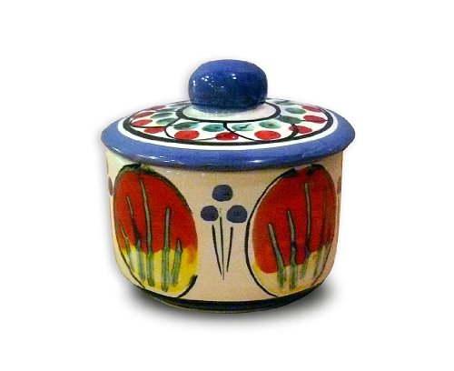Majolica Pottery (Italian Pottery Hand Painted Bellarte Allegria Sugar Dish from Italy)