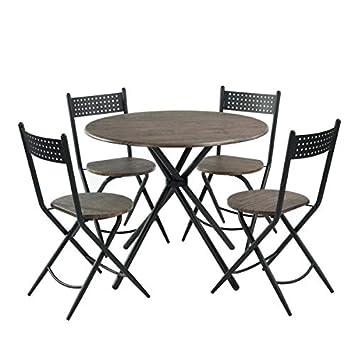 Amazon.com: HOMY CASA Juego de 5 sillas plegables para ...