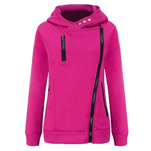 moyenne femmes jaune capuche rose taille couleur Zhrui veste pour décontractée à Sweat A6qRvv