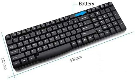 Black DADUIZHANG Profession Game Mechanical Wireless Spill-Resistant Keyboard English Keycap Fn Keys for Laptops Desktops