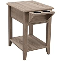 Simmons Upholstry Storage Chair Side Table, Driftwood