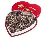Large Valentines Chocolate Heart Truffle Box Milk Free Nut Free Gluten Free