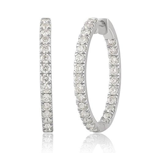 14K Gold Inside-Out Diamond Ho