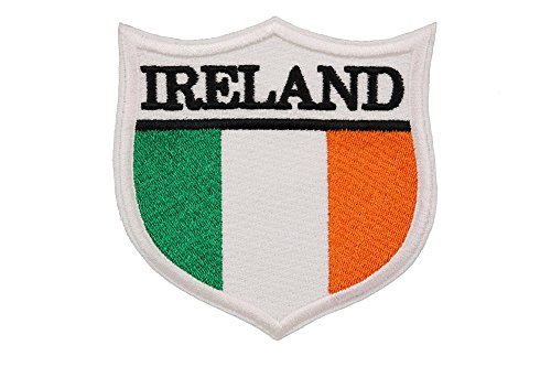World Flags Embroidered Patch Shield Over 100 Flags of Countries Across The World! Europe, Asia, Americas, Africa. Iron or Sew On. 100% Made in The USA (Ireland, 3.3)